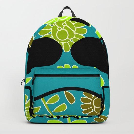 Floral skull Backpack