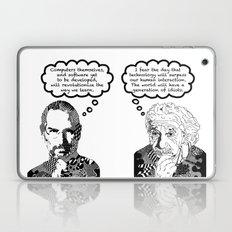 Jobs vs. Einstein Laptop & iPad Skin