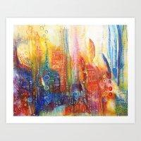 Journey on the Waterline Art Print