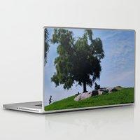 running Laptop & iPad Skins featuring running by XfantasyArt