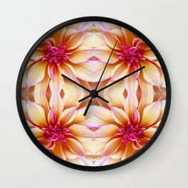 142 - Abstract Flowers Wall Clock