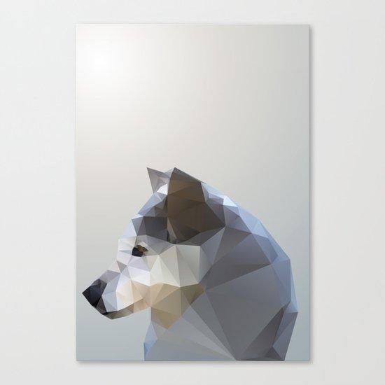 GEO - WINTER FOX Canvas Print