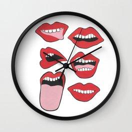 Get Lippy Wall Clock