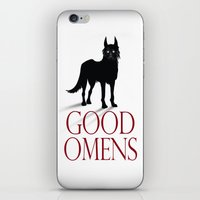 good omens iPhone & iPod Skins featuring Good Omens by RoboCharli