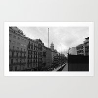 barcelona Art Prints featuring Barcelona. by Michaëlis Moshe