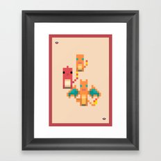 Red Family Framed Art Print