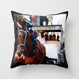 New Orleans Buggy Throw Pillow