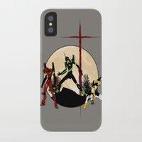 neon genesis evangelion iPhone & iPod Cases featuring Neon Genesis Evangelion - Hill Top by kamonkey