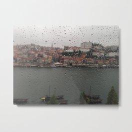 A Rainy Day in Porto Metal Print