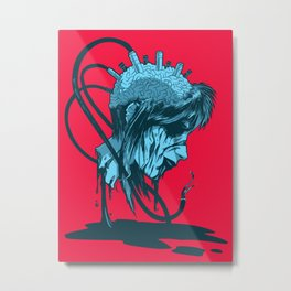 Brain Damage Metal Print
