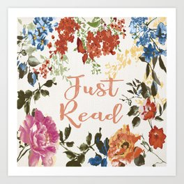 Just Read Art Print