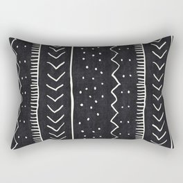 Moroccan Stripe in Black and White Rectangular Pillow