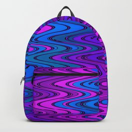WAVY #2 (Purples, Violets & Turquoises) Backpack