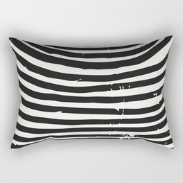 Black and White Art Print | Abstract Geometric Prints Mid Century Modern Print Abstract Art Prints Rectangular Pillow