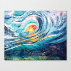 beneath the waves Canvas Print