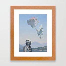 Floating Island Pizza Hut Framed Art Print