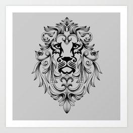 Heraldic Lion Head Art Print