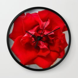 Rose in Red.... Wall Clock