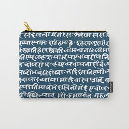 Sanskrit // Blue Stone Carry-All Pouch