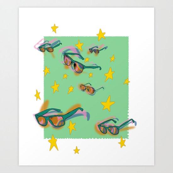 summer stamp Art Print