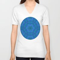 blues V-neck T-shirts featuring blues by Sproot