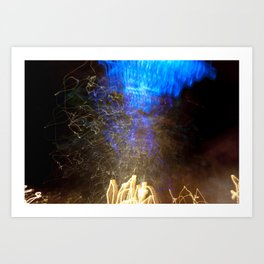 Light Painting Abstract Photograph 2 Art Print