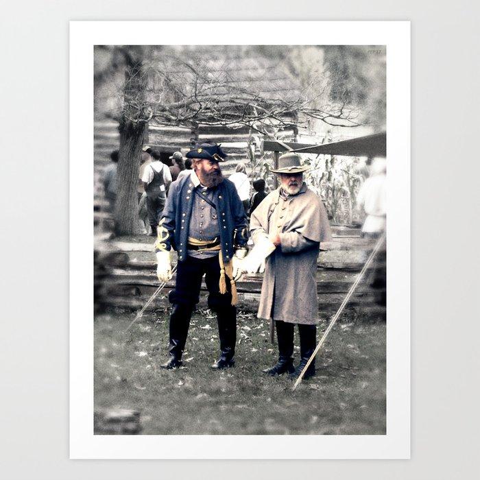 Civil War Reenactment Art Print