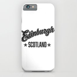 Edinburgh Scotland iPhone Case