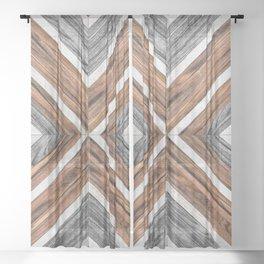 Urban Tribal Pattern No.4 - Wood Sheer Curtain