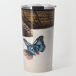 Le papillon de l'amour bleu azur Travel Mug