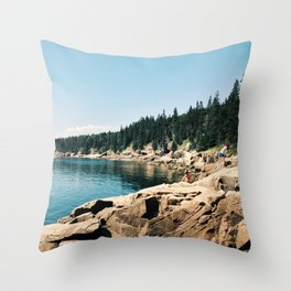 Otter Point - Acadia National Park, Maine Throw Pillow