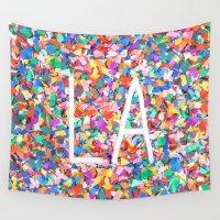 la Wall Tapestries featuring LA by StuartWallaceArt