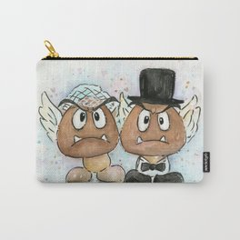 Goombas Bride and Groom, Nintendo Geek Wedding Carry-All Pouch