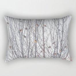 Nomadic Winter Flock of Robins Rectangular Pillow