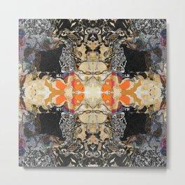 MANDALA Abstract Geometric Pattern Art by Michel Keck Metal Print