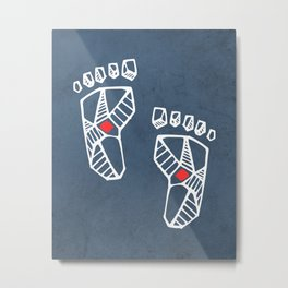 Jesus Christ feet Metal Print