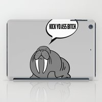 walrus iPad Cases featuring Angry Walrus by Joe Hilditch
