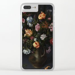 Jacob Vosmaer - A Vase with Flowers Clear iPhone Case