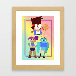 OK KO! Let's Be Heroes Framed Art Print