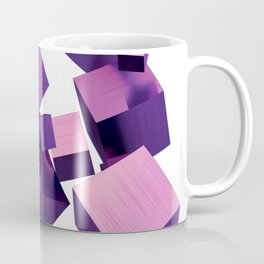 Falling Purple 3D Blocks Coffee Mug