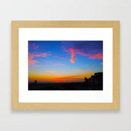 Beautiful sunset Framed Art Print