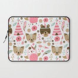Pink Boho Animals Laptop Sleeve
