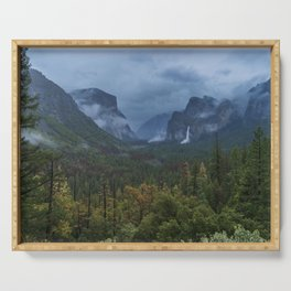 Yosemite Tunnel View Serving Tray