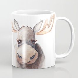 Woodland Animal, Moose, Head, Watercolor, Nursery Coffee Mug
