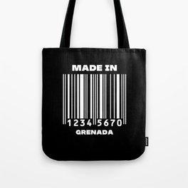 Made in grenada Barcode Tote Bag