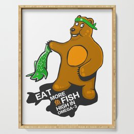 Omega Bear- Fish is high in Omega-3 Serving Tray