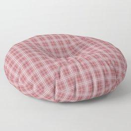 Christmas Rose Velvet Tartan Check Plaid Floor Pillow