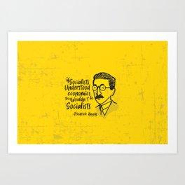Friedrich Hayek Illustration Art Print