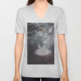 Dark fog forest Unisex V-Neck