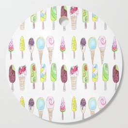 Watercolor. Ice cream . i Cutting Board